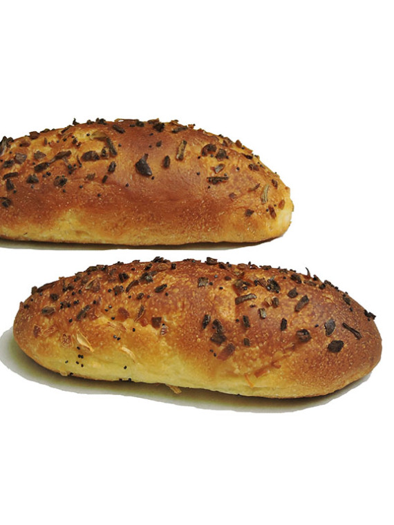 Onion Challah oval 4 in